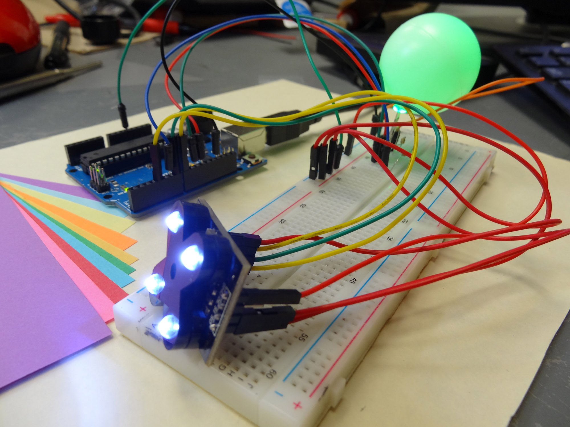 Lesson 15 Super Cool Arduino Color Sensor Project Technology Light That Means Must Shine Into The Ldr For Circuit And Rgb Led Connected To
