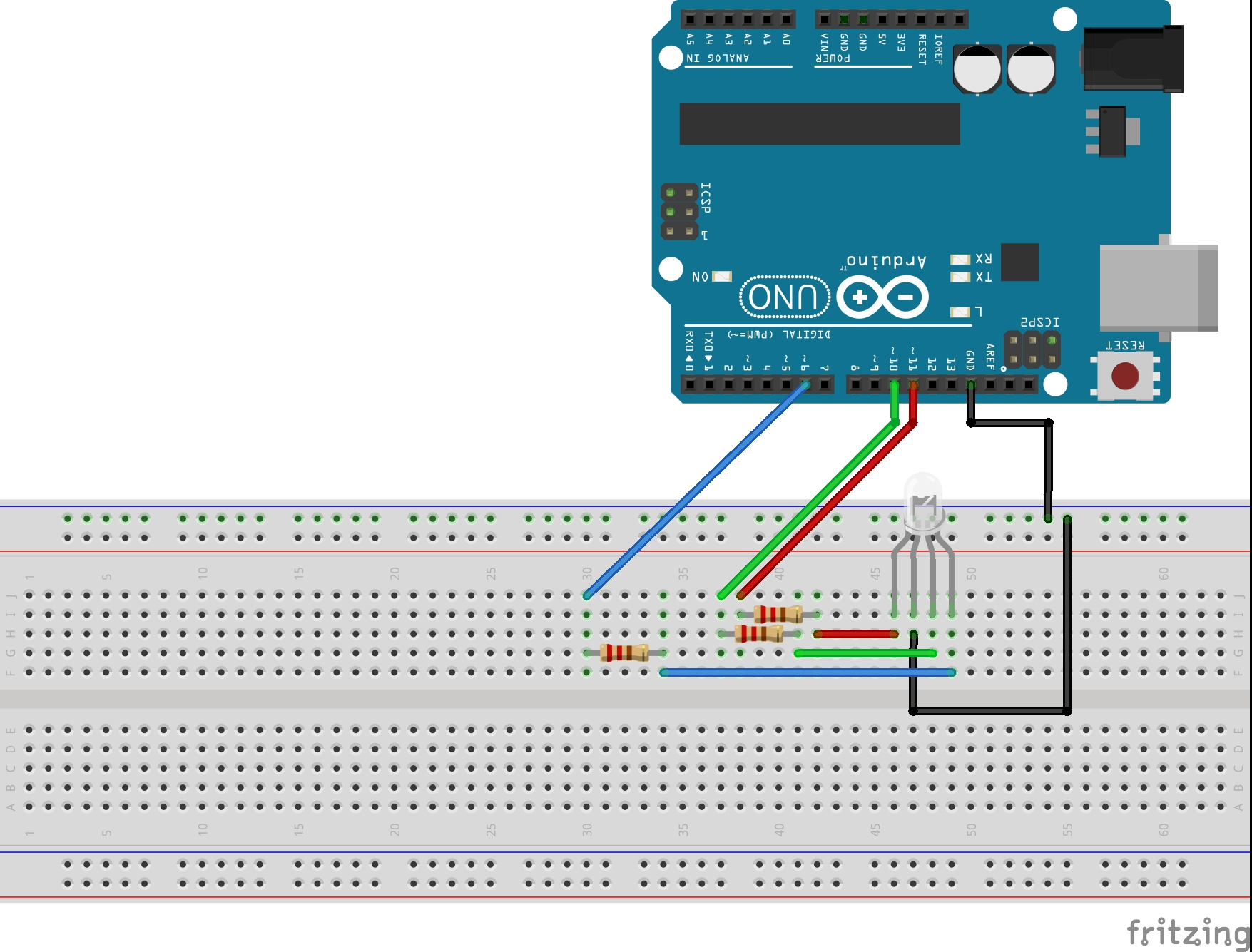 Lesson 13 Controlling Rgb Led With Arduino Technology Tutorials Schematic Of Basic Strobe Circuit