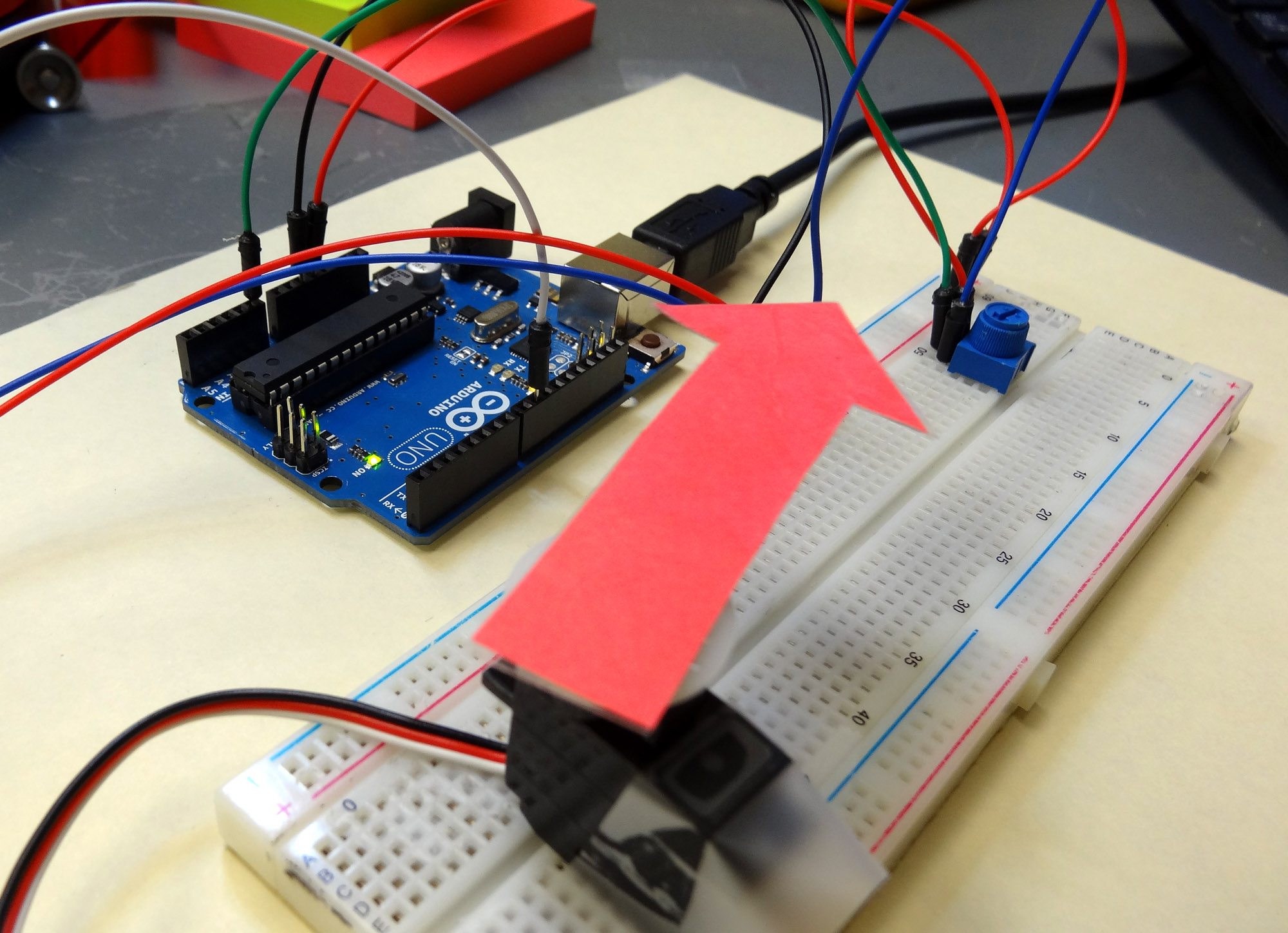Lesson 16 Controlling A Servo With Arduino Technology Tutorials Usb Controller Member Robot